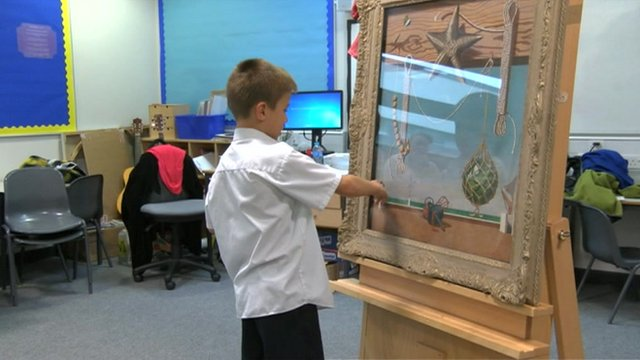 Pupils at Walkergate Primary School experience art first-hand