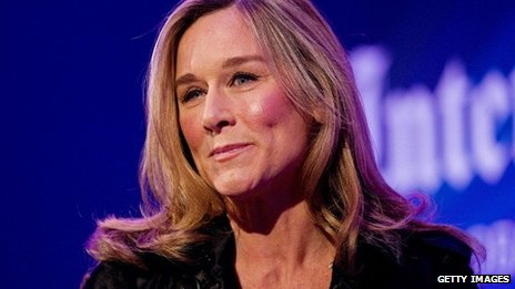 A close up picture of Angela Ahrendts
