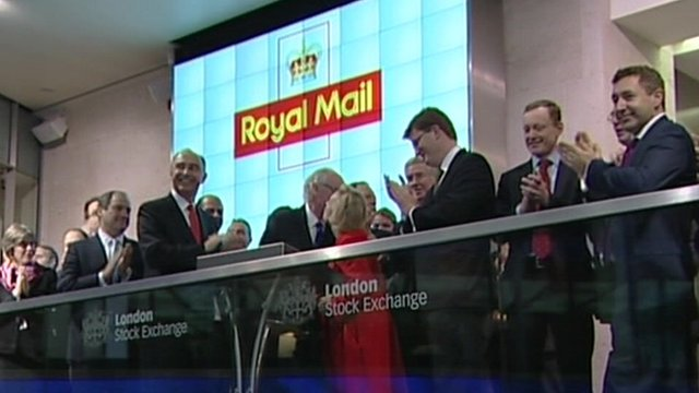 London stock market as Royal Mail shares begin trading