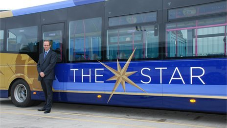 The Star bus and Marc Reddy