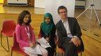 Sila and Reshma with Robert Peston