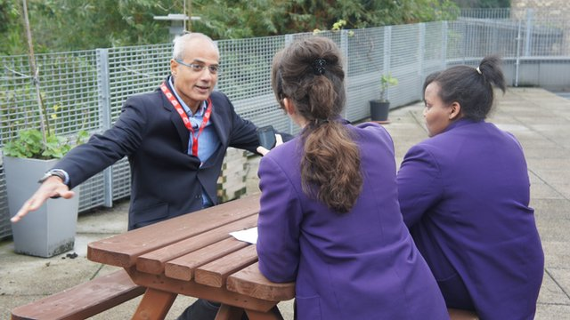 George Alagiah speaking to School Reporters