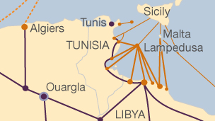 Migration route map