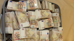 Bag of cash seized by Belgian police
