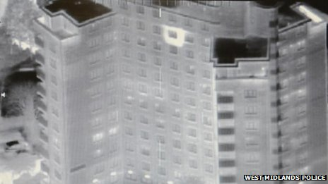 Tower block thermal image