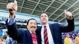 Cardiff City chairman Tan Sri Vincent Tan (left) and manager Malky Mackay