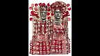 An artwork by Sokari Douglas Camp entitled Red Paisley King and Queen, Courtesy of ArtCo Gallery