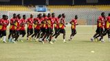Ghana team in training