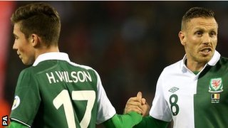 Harry Wilson and Craig Bellamy