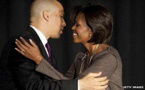 Cory Booker and Michele Obama