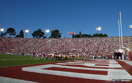 Stanford Stadium in 2004