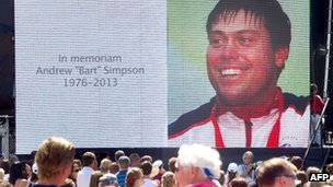 Andrew Simpson memorial at America's Cup opening ceremony