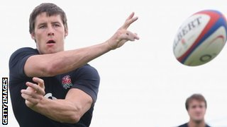 Saracens Joel Tomkins in England training