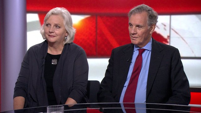 Juliet Lyon and Jonathan Aitken