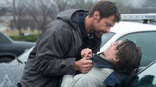 Hugh Jackman and Paul Dano in Prisoners
