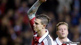 Denmark defender Daniel Agger