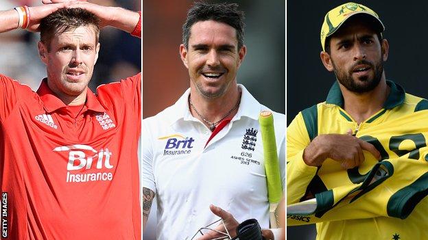 Boyd Rankin, Kevin Pietersen, Fawad Ahmed