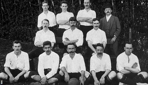 The Sao Paolo Athletic Club football team in 1904