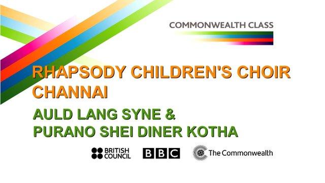 Rhapsody Children's Choir Channai perform Auld Lang Syne & Purano Shei Diner Kotha