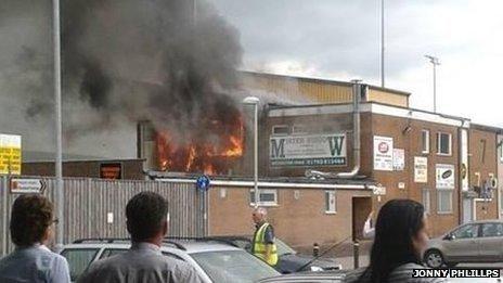 Fire at Maesteg rugby club