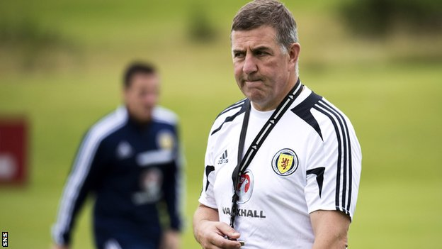 Scotland assistant manager Mark McGhee