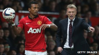 Nani and David Moyes