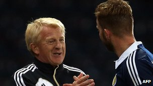 Scotland manager Gordon Strachan and midfielder James Morrison