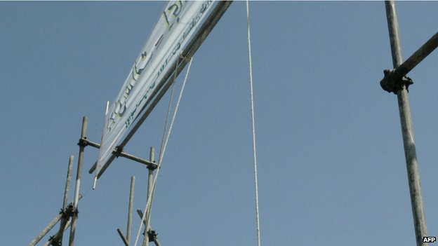An Iranian gallows (file image)