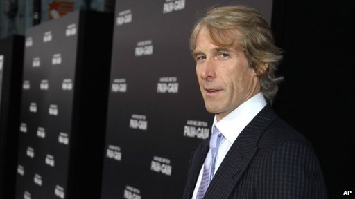 "American file director Michael Bay arrives at the LA Premiere of ""Pain and Gain"" at the TCL Theatre on Monday, April 22, 2013 in Hollywood"