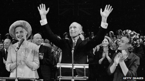 Sir Alec Douglas-Home at the Conservative Women's Conference, 1965