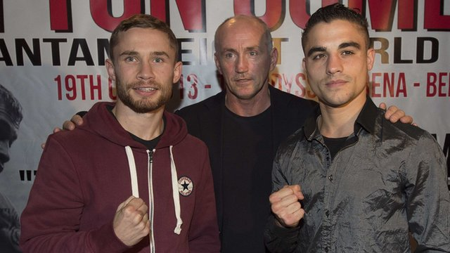 Carl Frampton, Barry McGuigan and Jeremy Parodi