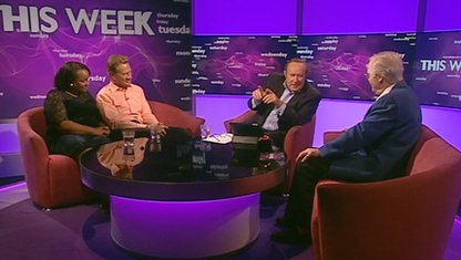 Diane Abbott, Michael Portillo, Andrew Neil and Nicholas Parsons
