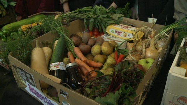 box of food for harvest festival