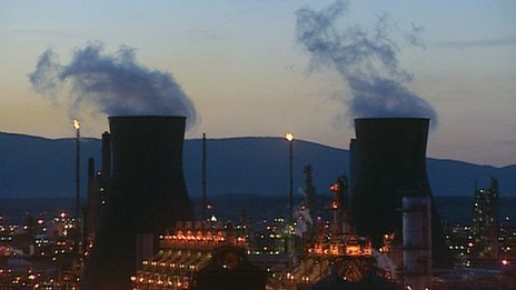 Grangemouth chimneys