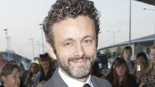 Michael Sheen arrives at the Bafta Cymru ceremony
