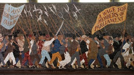 Michael sheen to retrace 1839 newport chartist uprising for Chartist mural newport