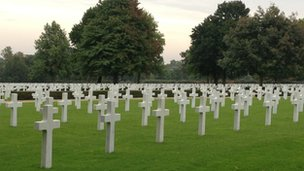 American cemetery at Madingley, Cambridge