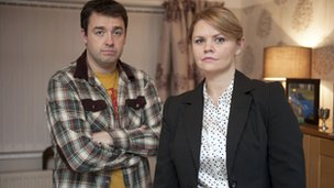 Jason Manford and Rebekah Staton in That's Amore from series four of Moving On