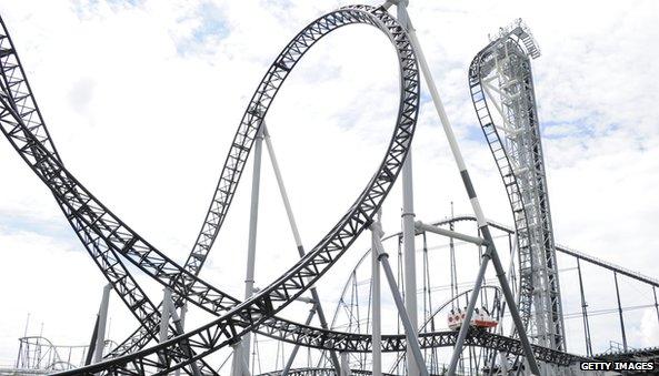 Still of the Takabisha thrill ride