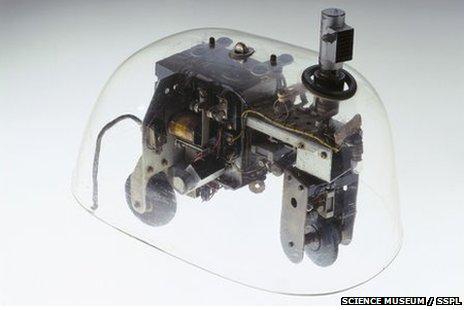 Grey Walter's Cybernetic Tortoise - display version in Science Museum's Codebreaker exhibition