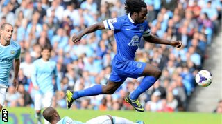 Everton striker Romelu Lukaku