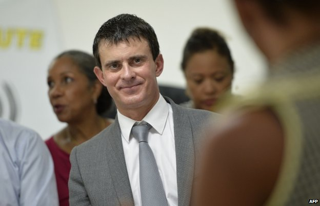 French Interior Minister Manuel Valls on Martinique, 17 October