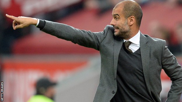 Bayern Munich boss Pep Guardiola