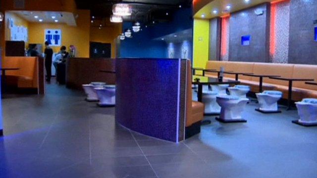 Toilet themed restaurant