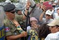 Cambodian land protesters clash with police during a protest in Phnom Penh