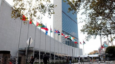 File picture of the United Nations Secretariat building