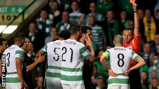 Scott Brown sent off