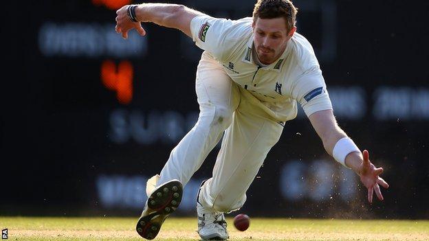 Warwickshire fast bowler Boyd Rankin