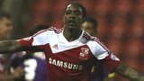 Nile Ranger celebrates Swindon's opener against Notts County