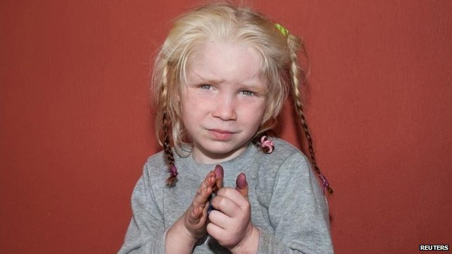 Handout photo of girl found in Greek Roma settlement (18 October)